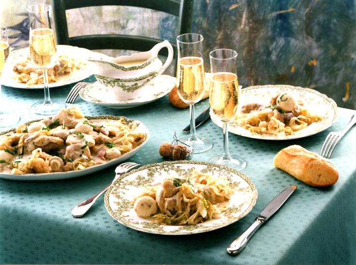 Repas au champagne- Bulles de champ